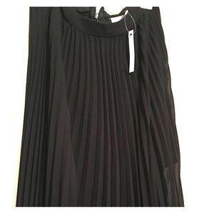 Sheer pleated chiffon skirt